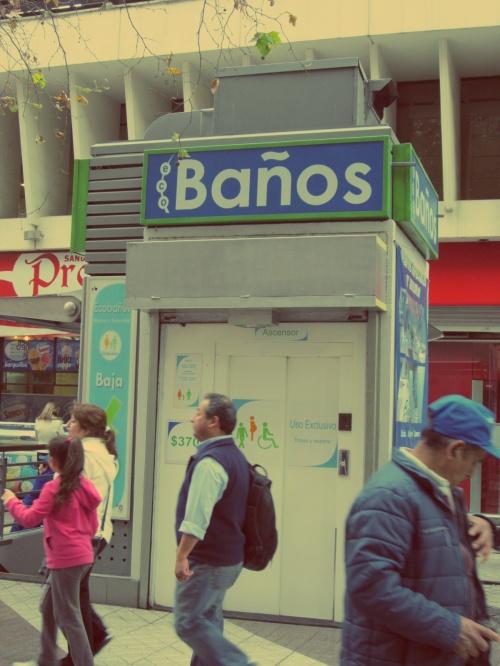 Banheiros Centro de Santiago - Chile - Mochilão América do Sul