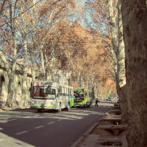 Ruas - Mendoza - Argentina - Mochilão América do Sul